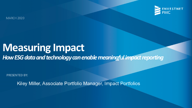 Measuring Impact: How ESG data & technology can enable real impact reporting