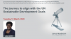 The journey to align with the UN Sustainable Development Goals