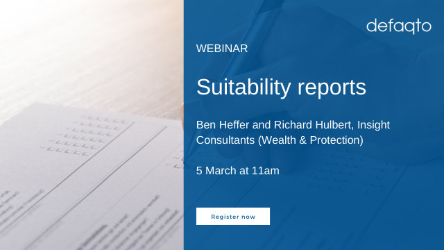 Suitability reports