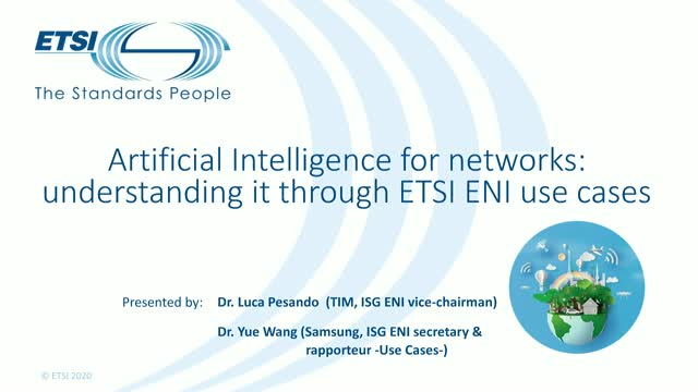 Artificial Intelligence for networks: understanding it through ETSI ENI use case