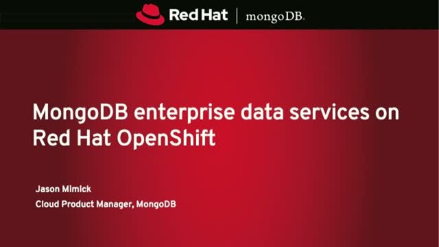 MongoDB enterprise data services on Red Hat OpenShift