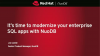 It's time to modernize your enterprise SQL apps with NuoDB