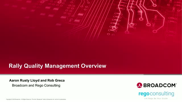 Rally Quality Management Overview