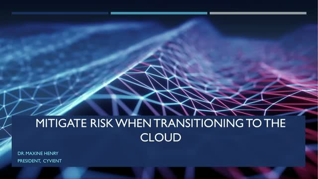 Mitigate Risk When Transitioning to the Cloud