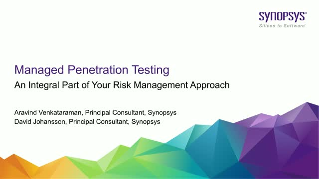 Managed Penetration Testing - An integral part of your risk management approach​