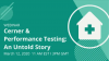 Cerner and Performance Testing: An Untold Story