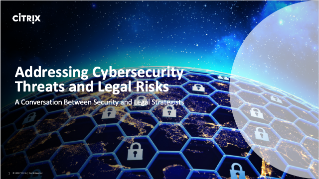 Addressing Cybersecurity Threats and Legal Risks