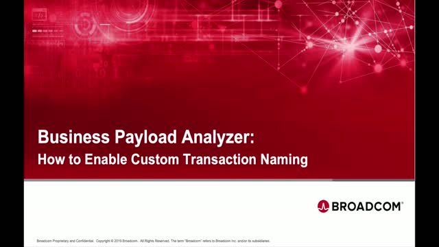Business Payload Analyzer: How to Enable Custom Transaction Naming