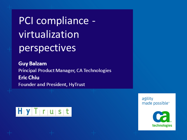 PCI Compliance From Virtualization Perspectives