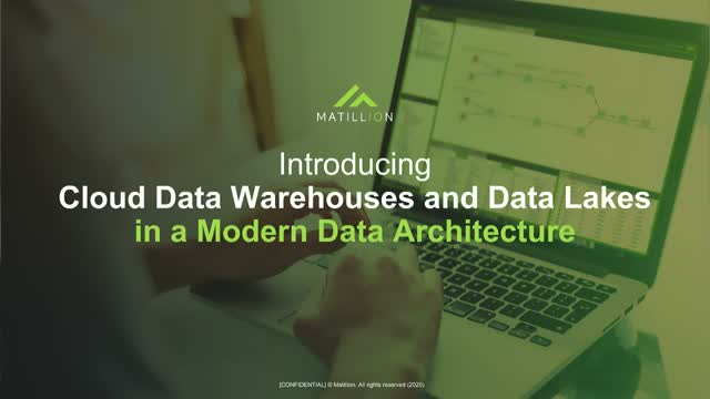 Cloud Data Warehouses and Data Lakes in a Modern Data Architecture