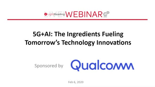 5G & AI: The Ingredients for Next Generation Wireless Innovation