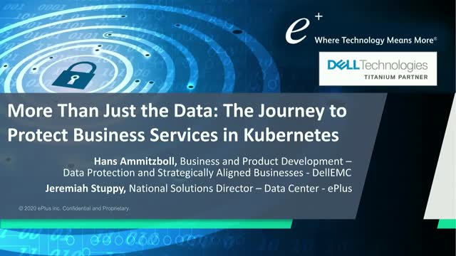 More Than Just the Data: The Journey to Protect Business Services in Kubernetes
