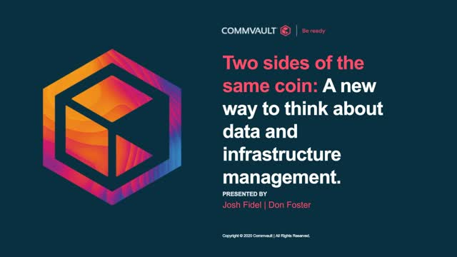 Two sides of the same coin: a new way to think about data and infrastructure man