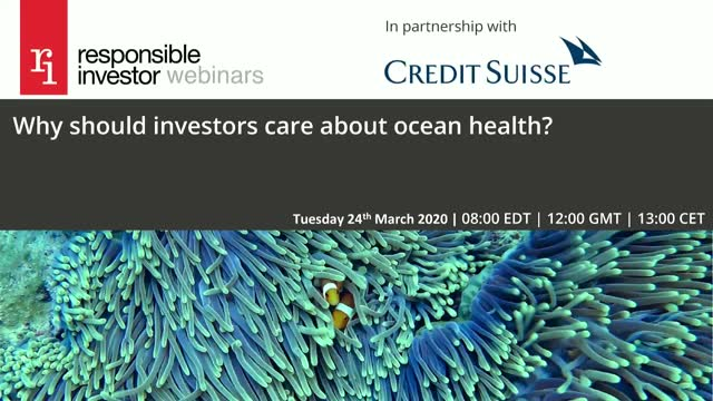 Why should investors care about ocean health?
