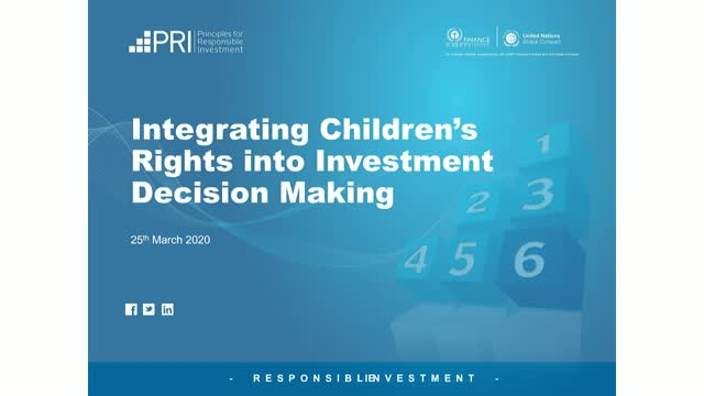 Guidance on Integrating Children's Rights into Investment Decision Making