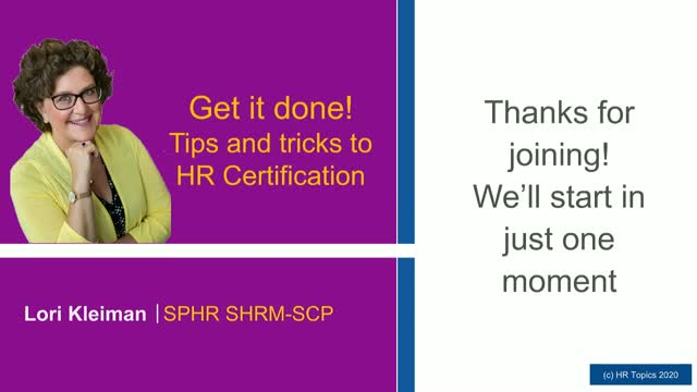 Get it done! Tips and tricks to HR Certification