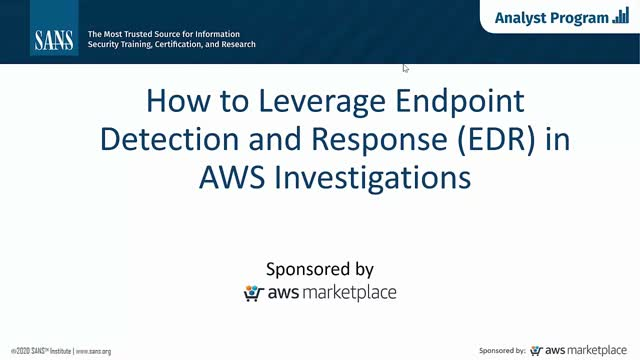 How to leverage endpoint detection and response (EDR) in AWS investigations