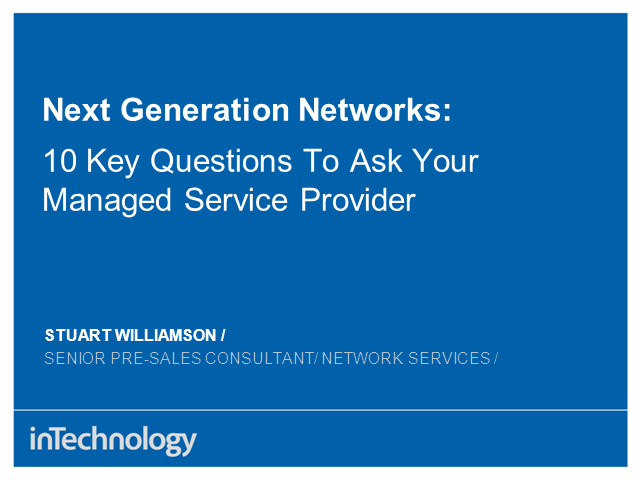 10 key questions to ask your Managed Network Provider