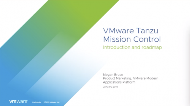 Introduction to VMware Tanzu Mission Control