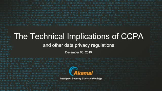 The Technical Implications of CCPA