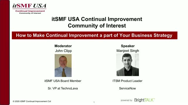 How to Make Continual Improvement a part of Your Business Strategy?