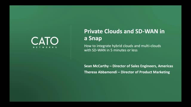 DEMO: Hybrid Clouds and SD-WAN in a Snap