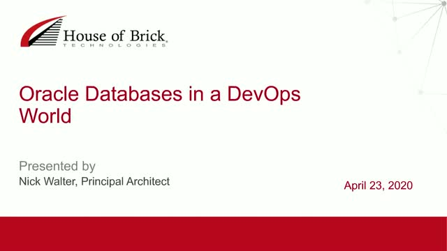 Oracle Databases in a DevOps World