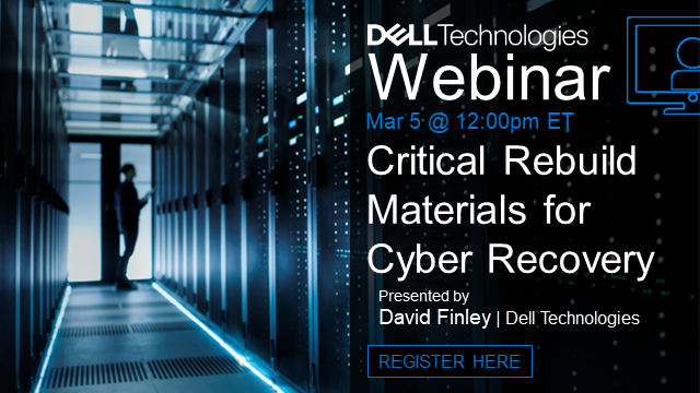 Critical Rebuild Materials for Cyber Recovery