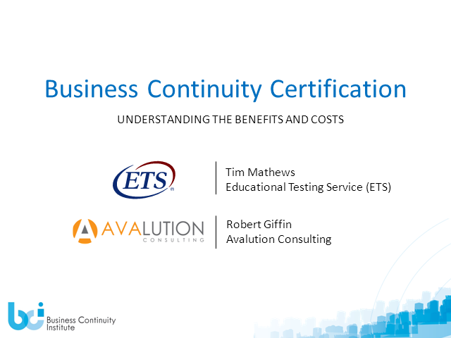 Why Choose to Be Certified and the Costs Associated with Certification