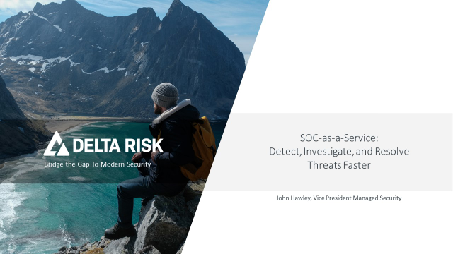 SOC-as-a-Service: Detect, Investigate, and Resolve Threats Faster