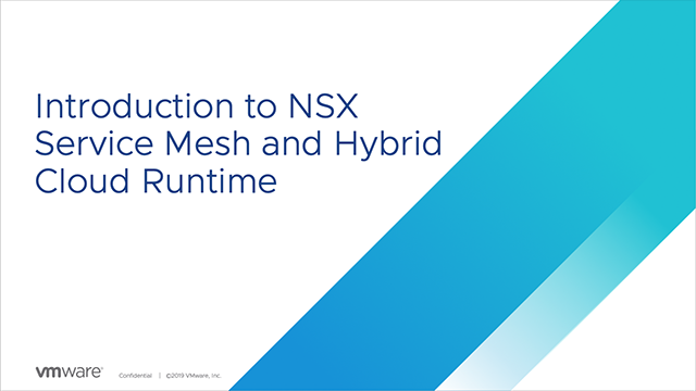 Introduction to NSX Service Mesh and Hybrid Cloud Runtime
