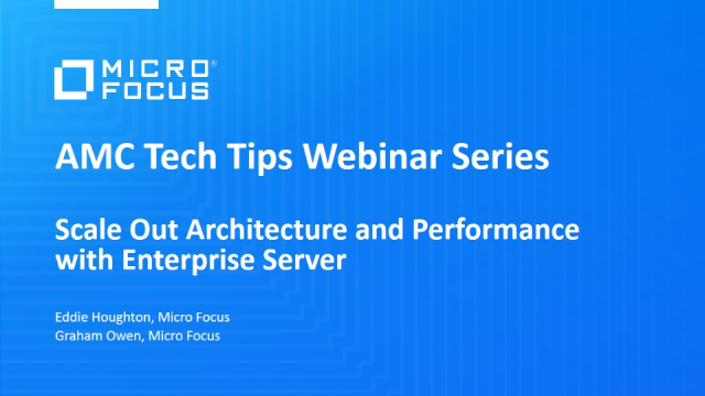 Tech Tips: Scale Out Architecture and Performance with Enterprise Server