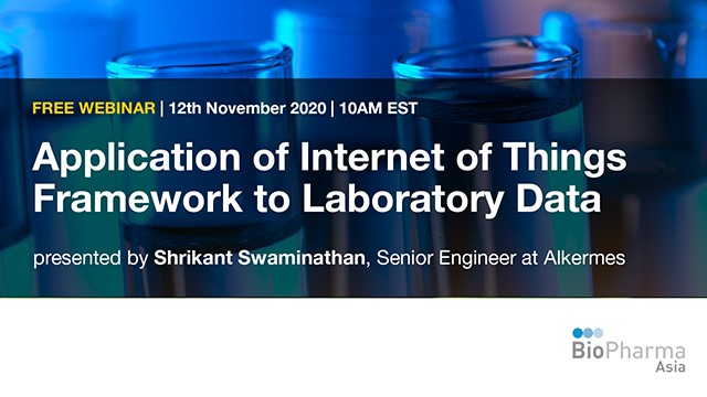Application of Internet of Things Framework to Laboratory Data