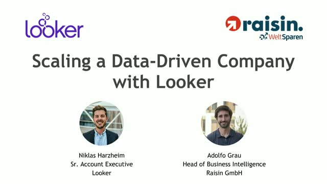 Raisin: Becoming a Data-Driven Company with Looker.