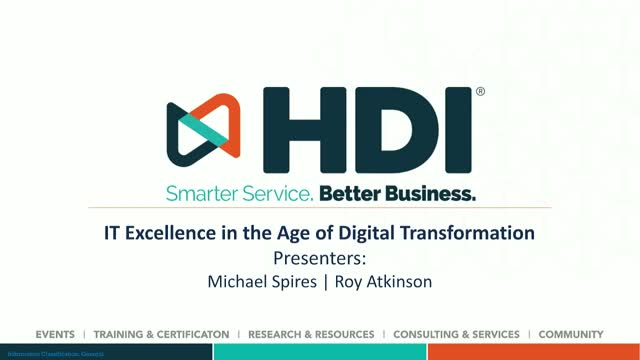 IT Excellence in the Age of Digital Transformation