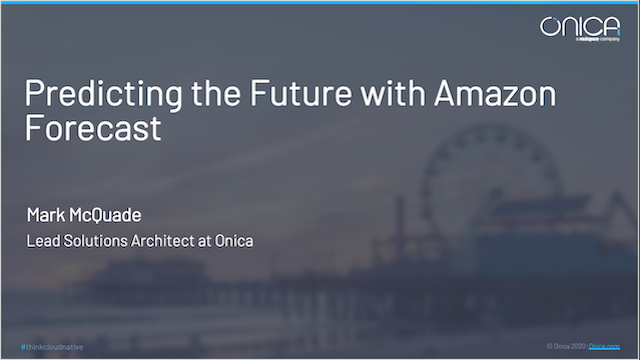 Predicting the Future with Amazon Forecast