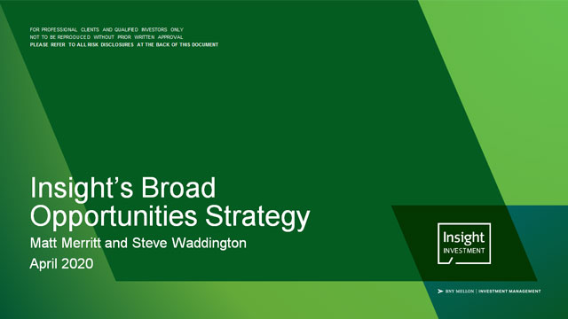 Insight's Broad Opportunities Strategy | April 2020
