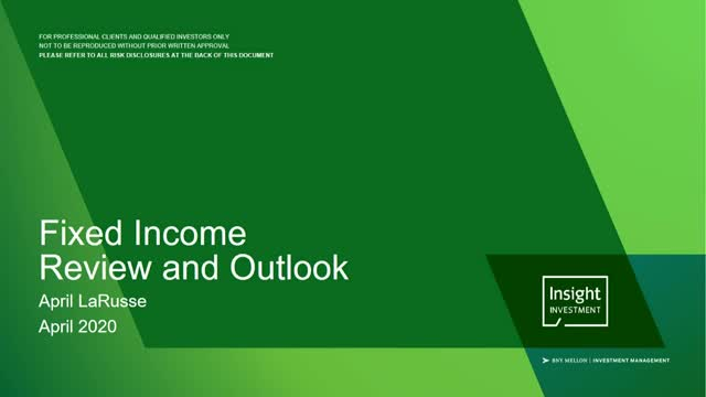 Fixed income review and outlook | April 2020