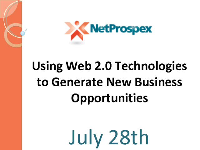Using Web 2.0 Technologies to Generate New Business Opportunities