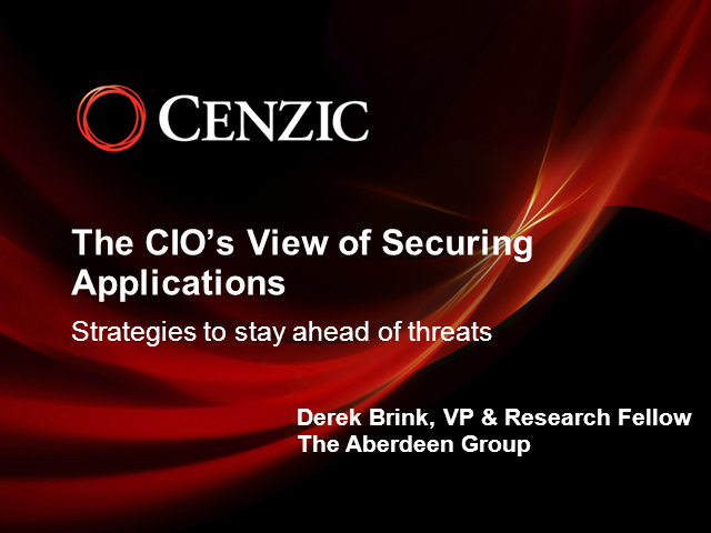 The CIO's View of Securing Applications