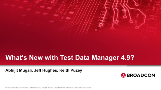 What's New with Test Data Manager 4.9?