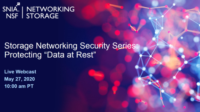 Storage Networking Security Series: Protecting Data at Rest