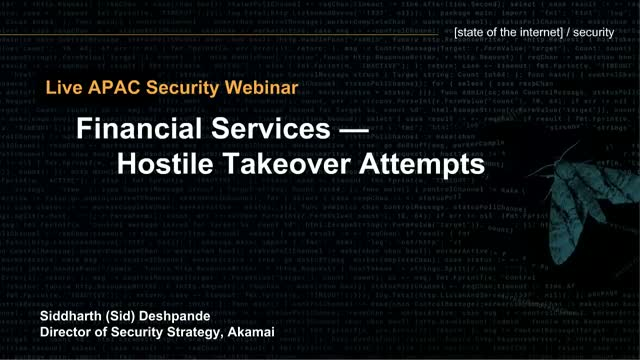 [New session] State of the Internet / Security Financial Services