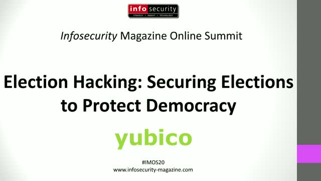 #IMOS20 - Election Hacking: Securing the Election to Protect Democracy