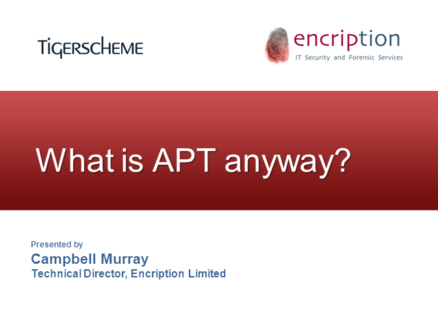 What is APT anyway?