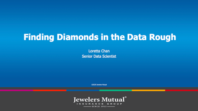 Finding Diamonds in the Data Rough