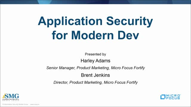 Application Security for Modern Dev