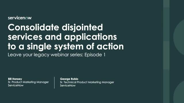 Consolidate disjointed services and applications to a single system of action