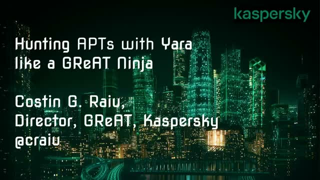 Upping the APT hunting game: learn the best YARA practices from Kaspersky