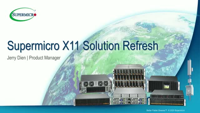 Supermicro X11 Solution Refresh